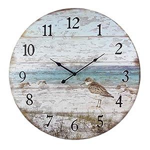 51jV+c8UvSL._SS300_ Coastal Wall Clocks & Beach Wall Clocks