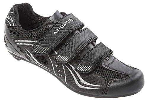 M-Wave Rennrad-Fahrradschuhe RFS, schwarz/grau/weiß, 41, 17110611