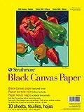 Strathmore (310-209) STR-310-209 10 Sheet Black Canvas Pad, 9 by 12', 9'x12'