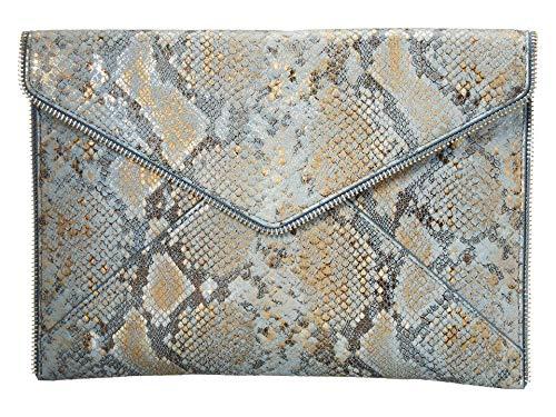 Rebecca Minkoff Leo Clutch Cement Blue Multi One Size