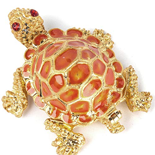 YU FENG Tiny Cute Sea Turtle Figurines,Small Turtle Trinket Box Hinged, Collectible Turtle Gifts for Kids