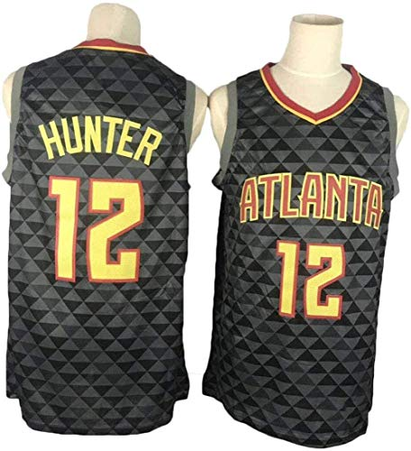 CCKWX Herren-Basketball-Jersey - Atlanta Hawks 12# De'andre Hunter Swingman Jersey, Basketball Swingman Jersey Sportkleidung, Unisex Ärmel T-Shirt,XL:185cm/85~95kg