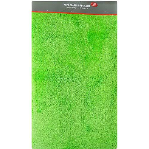 axentia Badematte Mint-Badteppich-Badvorleger modern & groß aus Microfaser-Badezimmerteppich rutschfest-Badgarnitur für Dusche, Waschbecken & Badewanne, Stoff, 100 x 60 x 1.5 cm