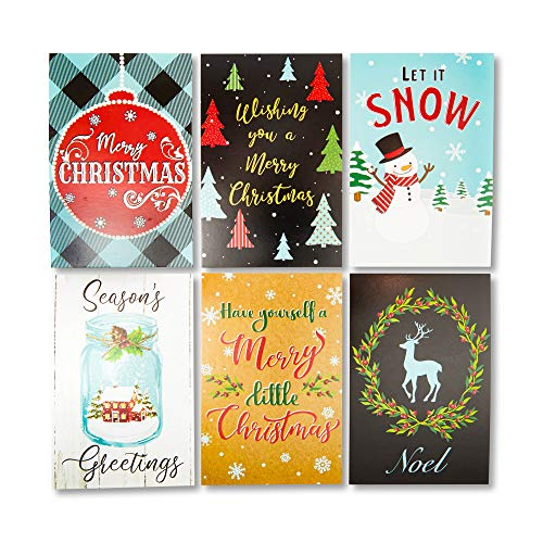 Sustainable Greetings Christmas Holiday Postcards (4 x 6 in, 96 Pack)