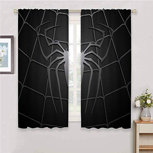 QIAOQIAOLO Rideau de 183 cm de long avec motif araignée super héros pour la protection de la vie privée 183 x 183 cm