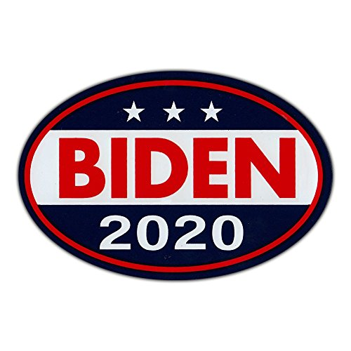 "Oval Shaped Magnet - Joe Biden for President 2020 - Democrat Party Magnetic Bumper Sticker - 6"" x 4"""