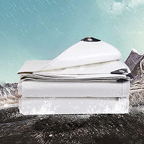 N\C XIKUO wasserdichte Plane, PE-Leinwand mit Ösen Premium-Qualität Abdeckung für Outdoor Shelter Garden Shade Camping,Weiß,3x4m