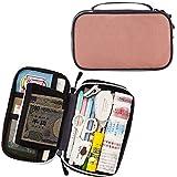 iSuperb Portable Pencil Case Zipper Passport Bag Large Capacity Document File Bag Compartment Pencil Pouch Stationery Storage for Women Men Travel