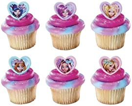 24 pc - Winx Fairies Cupcake Cake Rings Toppers Party Favors