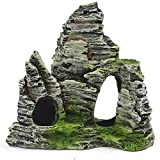 Persdico Acuario simulación Vista de la montaña Adorno de Piedra rocalla Paisaje Roca Resina pecera decoración