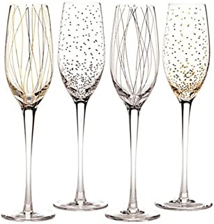 Mikasa Cheers Party Flutes, Set of 4