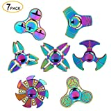 SCIONE Metal Fidget Spinner 7 Pack Stainless Steel Bearing 3-5 Min...
