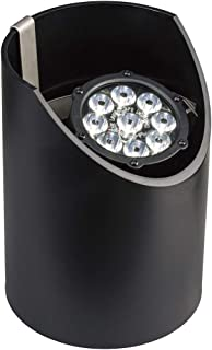 Kichler Lighting 15758BKT LED Well Light 9-Light Low Voltage 60 Degree Wide Spread Light, Textured Black with Clear Tempered Glass Lens