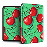 YOPM Funda para Kindle E-Reader,Compatible con Kindle Paperwhite 4 Kindle Oasis 2/3 Kindle 2019 Auto Sleep/Wake Funda Inteligente Verde De Silicona Liviana Cherry, para Cw24Wi, S8In4O