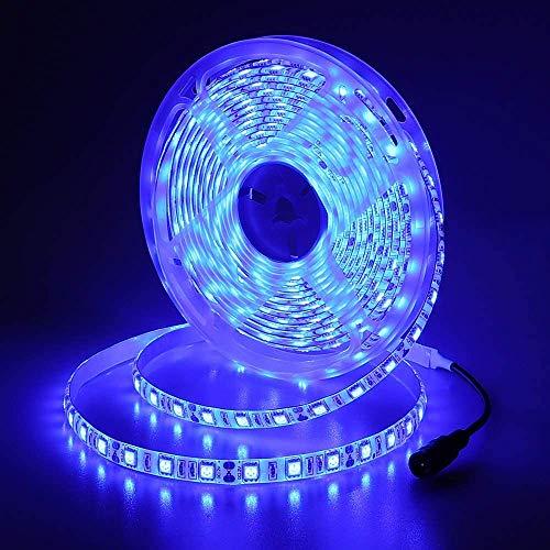 JOYLIT 12V Tiras LED Iluminación Azul 300 LEDs SMD5050, 5M IP65 Impermeable Luces LED para Armario, Dormitorio, Muebles, Cocina
