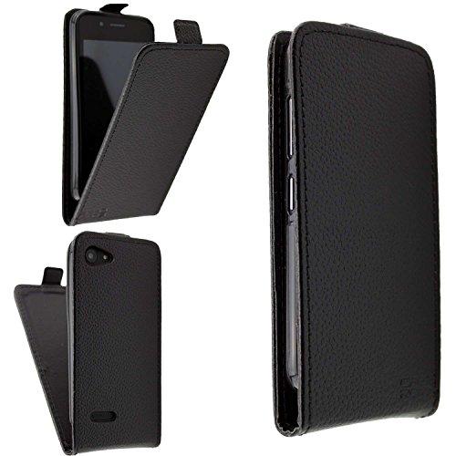 caseroxx Flip Cover für Archos 40 Neon, Tasche (Flip Cover in schwarz)