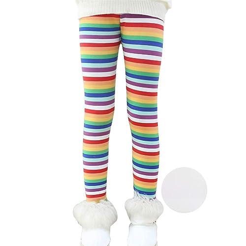 f64540327 Reciy Girls Winter Thick Warm Long Pants Printing Fleece Lined Leggings