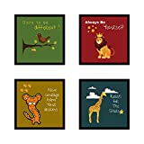 Webelkart Funny Animal Quotes Synthetic Photo Frame Poster for Wall, Office, Study Room