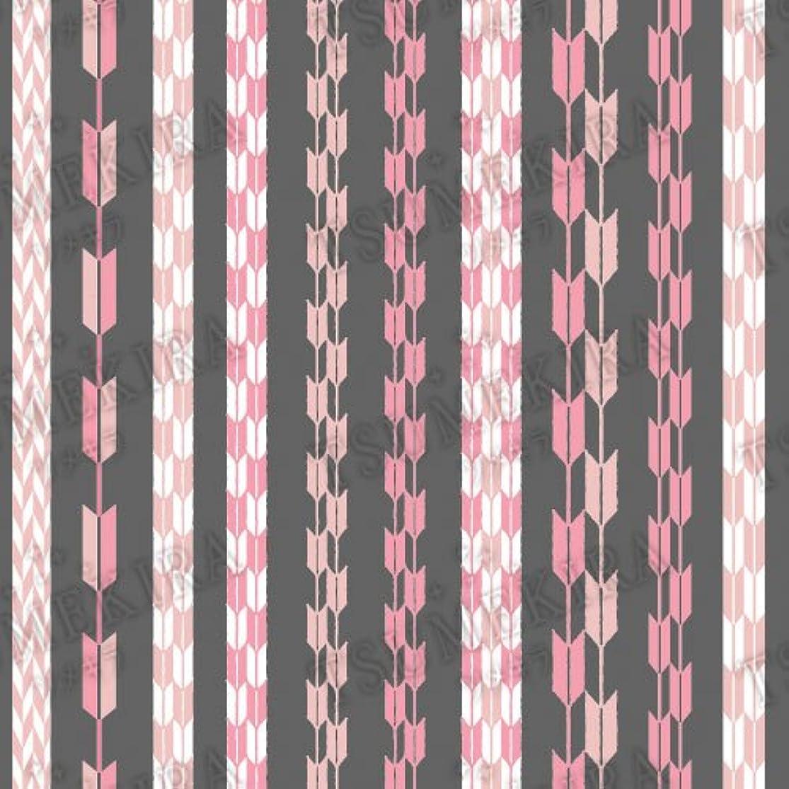 難破船ビンカリングツメキラ ネイル用シール スタンダードスタイル 矢餅 ピンク