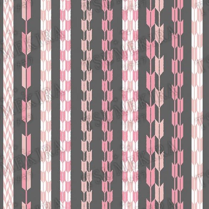 添加剤祝福するアウターツメキラ ネイル用シール スタンダードスタイル 矢餅 ピンク