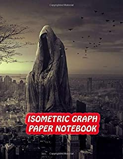 Isometric Graph Paper Notebook: Drawing Dot Grid 8.5x11 Landscape Journal 100 sheets | Big Sculpture Cover Print