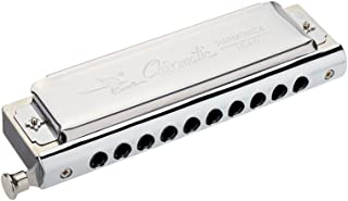 ammoon Cisne Cromática Harmonica 10 Holes 40 Tonos de Tecla de C de Plata con Exquisita Caja