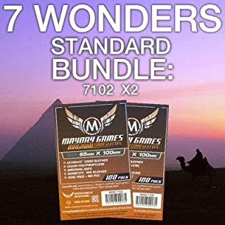 Mayday Games 7 Wonders Game Accessory- Standard Card Sleeve Bundle