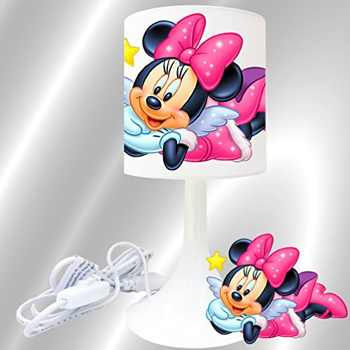 Kikoucat Lampe de Chevet de création Lampe à Poser Enfant - Minnie Ange