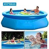 Swimming Pool Piscina Inflable Redonda Piscina De Tierra Antedicha Familia Verano Kids Play Nadada De Los Niños Piscina De Aqua Piscine Water Sport Easy Set - 457 × 84cm Blue