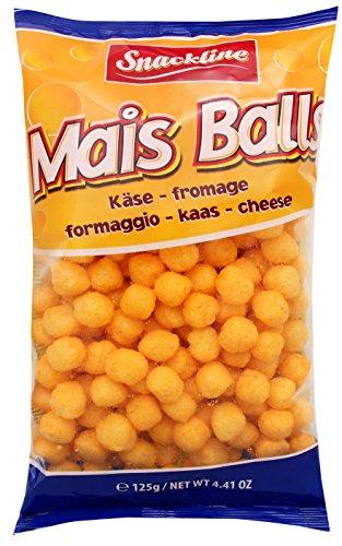 Snackline Maissnack mit Käsegeschmack, 10er Pack (10 x 125 g)