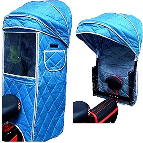 Regenschutz Für Kinderfahrradsitze, Kinderfahrrad-Rücksitzüberdachung, Kinderwagen, Kindersitz-Rücksitzüberdachung, Universal-Fahrradsitzabdeckung Warme Strahlungsüberdachungsabdeckung ( Color : B )