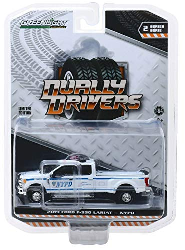 Greenlight 46020-F Dually Drivers Series 2-2019 Ford F-350 Dually - New York City Police Dept NYPD 1:64 Scale