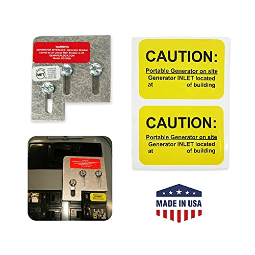 GenInterlock SD-200A Square D Electrical Panels Interlock Kit for Safe Outdoor Portable Power Use During Outage, 150 and 200 Amp
