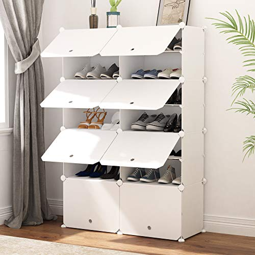 JOISCOPE Portable Shoe Storage Organzier Tower, Modular Cabinet Shelving for Space Saving, Shoe Rack...