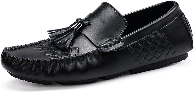 PANFU-DY PANFU-DY Vamp Mokassins aus echtem Leder mit weicher Gummisohle for Herren Driving Penny Loafers (Farbe   Tassel, Größe   7.5 MUS)  100% nagelneu mit ursprünglicher Qualität
