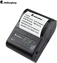 Mobile Thermal Receipt Printer, Meihengtong Handheld 2 Inches 58mm Mini Portable Bluetooth 4.0 Receipt Printer Wireless with Rechargeable Battery, Compatible with Android/ iOS, 2 Rolls Paper Inside
