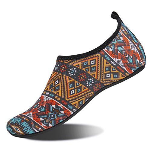 Water Shoes for Womens and Mens Summer Barefoot Shoes Quick Dry Aqua Socks for Beach Swim Yoga Exercise (Bohemia  42/43)