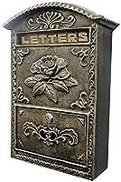 壁掛けレターボックスポストボックスメールボックスウォールマウントビンテージヨーロッパスタイルアルミニウムメールボックスレターボックス屋外メールボックスロック可能メールボックス