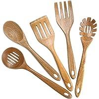 Xdowmo Nonstick Kitchen Wooden Cooking Utensils
