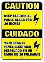 レトロなメタルサイン/プラークノベルティギフト、注意36電気看板をクリアに保つ-アルミニウムノスタルジックソーダショップアートサイン?