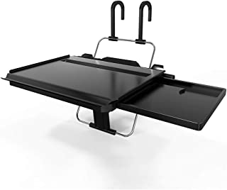 Multi-Functional Car Steering Wheel Vehicle Seat Portable Tray Car Bracket Black Laptop Notebook Desk Table Car Dining Food Drink Desk Cup Holder with Extended Pull Type Small Table (Car Small Table)