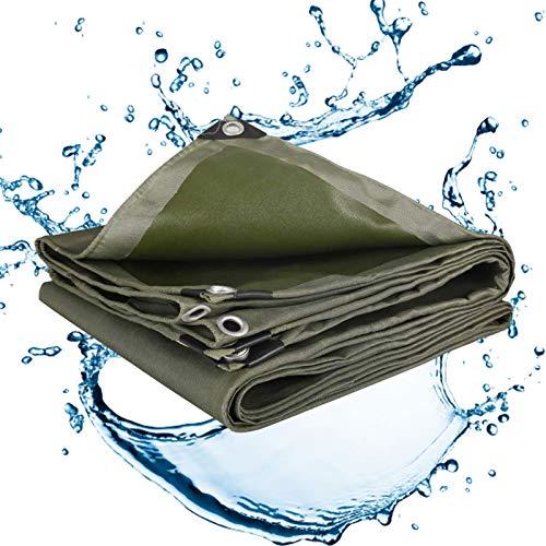 ZGQ Lonas Impermeables Exterior 9x9ft/3x3m, Multiusos Lona Resistente, Resistente Al Agua Lona De Protección Ideal para Carpa Canopy Barco Carpa RV O Cubierta De Piscina, Verde
