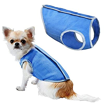 LotFancy Dog Cooling Vest Jacket Coats Swamp Cooler for Puppies Cats Kittens Pets, Blue
