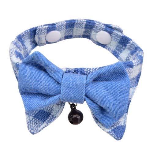Catspia CASA-SC9419-BL-M Hobbes Collar para Gato, M, Azul