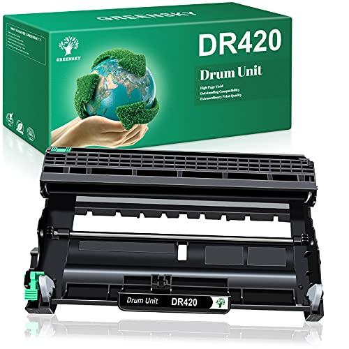 GREENSKY Compatible Drum Unit Replacement for Brother DR420 DR 420 for Brother HL-2270DW HL-2280DW HL-2230 HL-2240 MFC-7360N MFC-7860DW DCP-7065DN Intellifax 2840 2940 (1 Drum Unit)