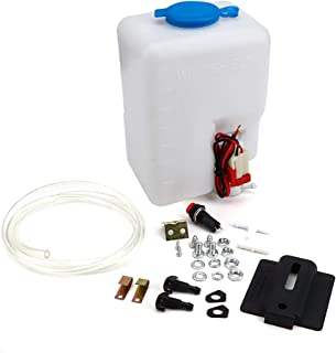 Universal UTV Car Windshield Washer Pump Reservoir Kit, KEMIMOTO 12V Washer Fluid Tank Bottle System with Pump N Jet Button Switch