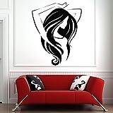 Tianpengyuanshuai Etiqueta de la Pared salón de Belleza Mujer Hermosa calcomanía de Pared escaparate decoración del hogar salón de Belleza peluquería patrón extraíble 75x95 cm