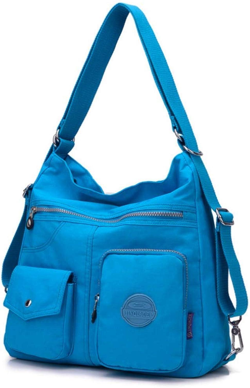 Nylon Casual Rucksack Leichte Multi-Pocket-Schultertasche Reisetasche mit großer Kapazität Mode-Multifunktionstasche (Farbe   SkyBlau, größe   34  11  33cm) B07Q8K8GP2  Neuer Markt