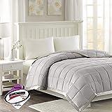 Madison Park Windom Microfiber Down Alternative Stain Resistant Blanket, King, Grey