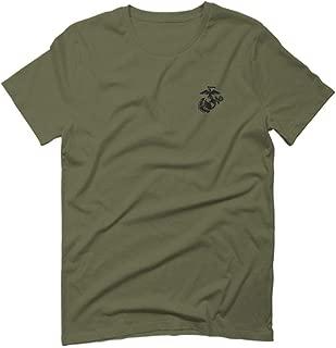 Black Seal Marine Corp Logo USMC United States of America American for Men T Shirt